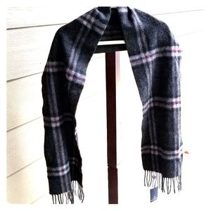 Balmoral Lambswool Scarf Thomson Charcoal Plaid